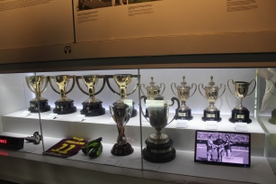 Women's soccer trophies