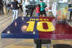 Messi Table in the Stadium Restaurant