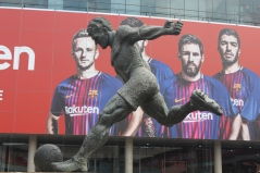 Ladislao Kubala Stecz Statue Outside the Stadium