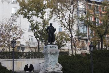Statue of the artist Francsico Goya