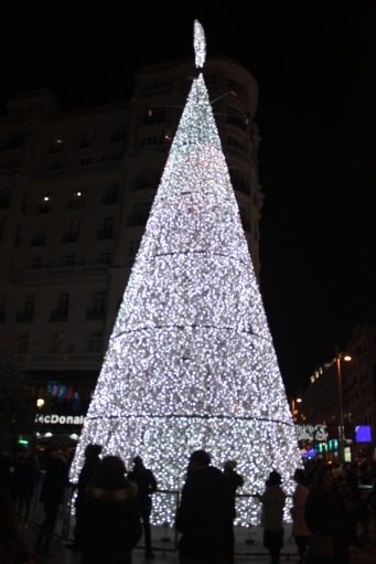 Christmas tree in Madrid